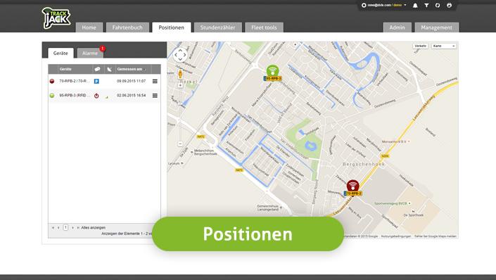 trackjack-portal-Positionen