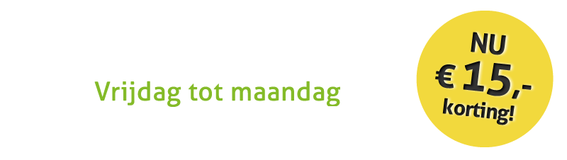 Black Friday! Alleen dit weekend 15e korting