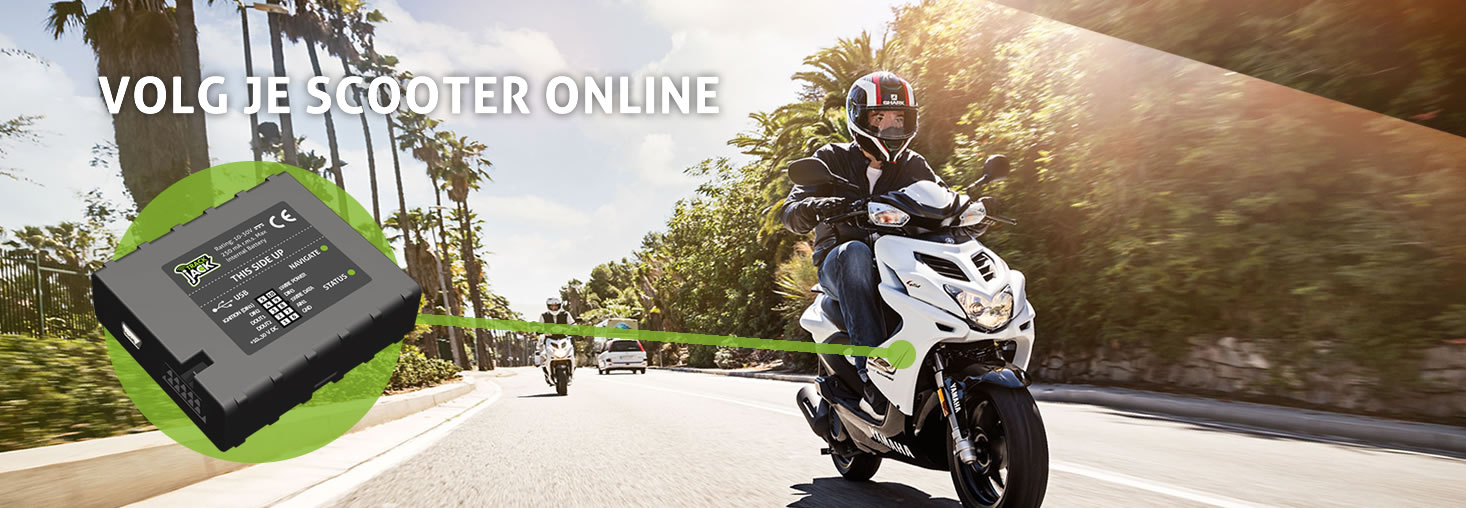 GPS Tracker scooter - volg je scooter online met TrackJack
