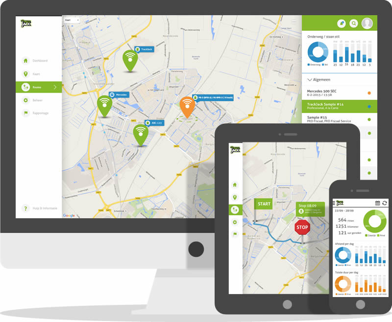 GPS tracker auto - online TrackJack account
