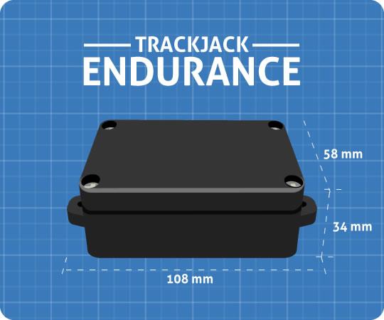 Afmetingen van de TrackJack Endurance