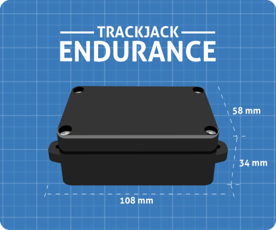 Container tracker - Endurance afmetingen