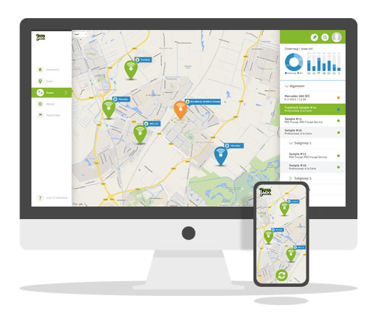 Container tracking - online en app