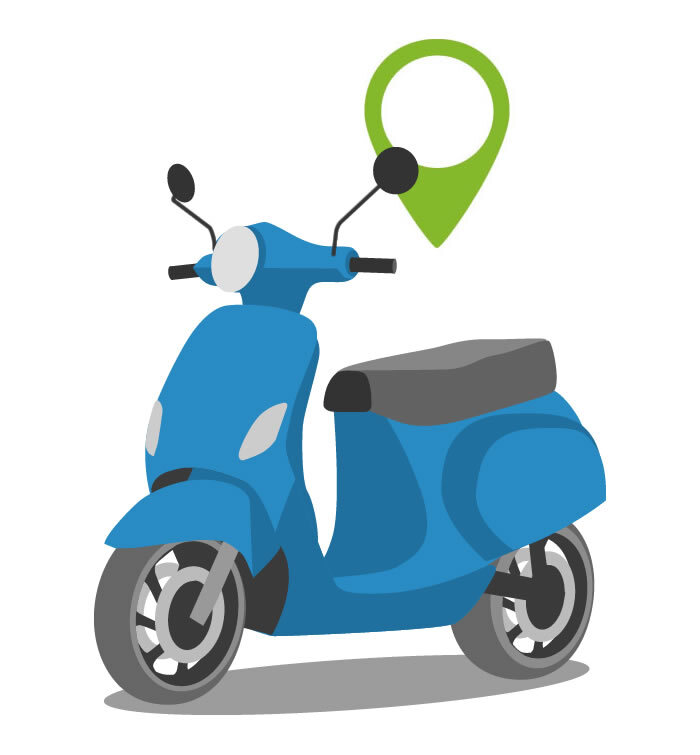 GPS tracker scooter