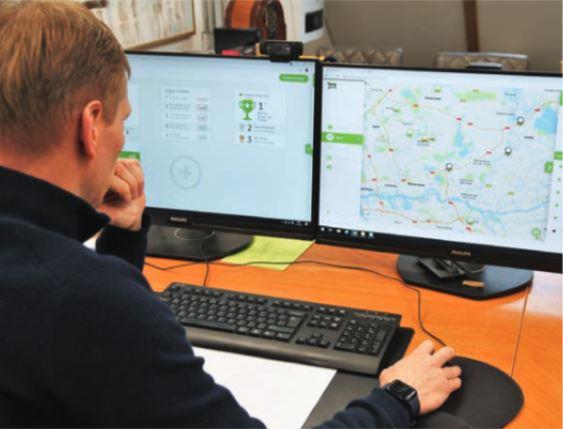 Als een klant vraagt wanneer de bestelauto arriert, kan het Expert-team eenvoudig de actuele positie zien.