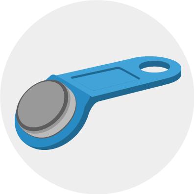 bestuurdersidentificatie blauwe key