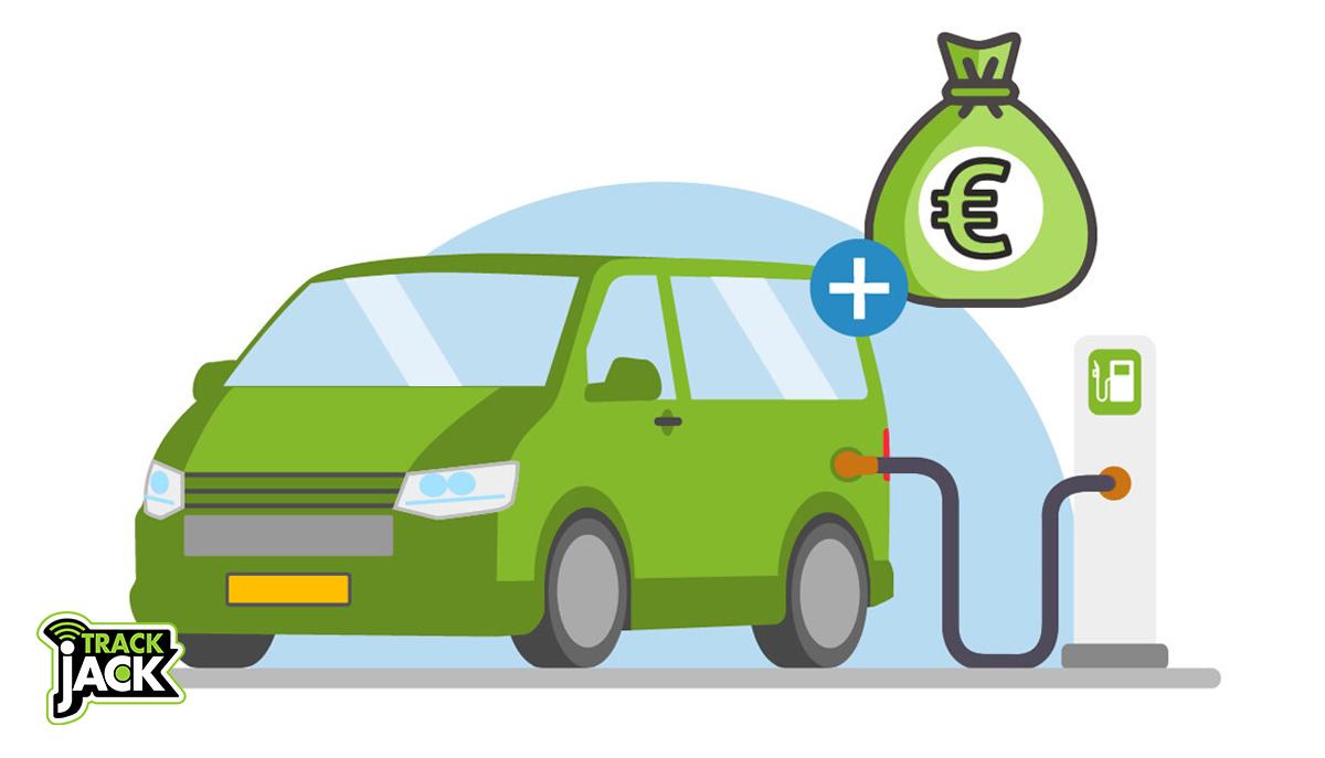 gps tracker bestelwagen brandstofkosten