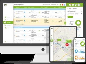Kilometerregistratie met desktop, ipad en smartphone app