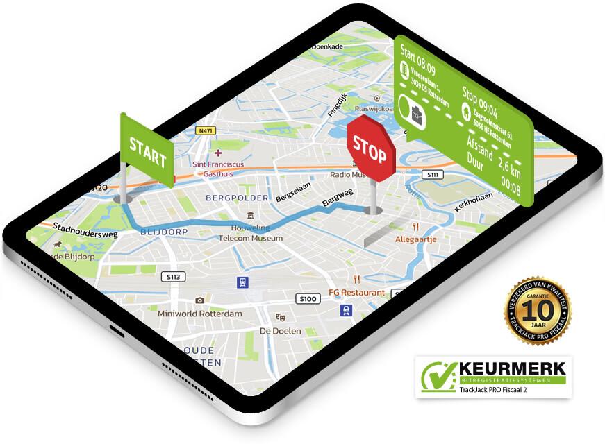 kilometerregistratie betaalbaar voorzien van keurmerk Ritregistratiesystemen